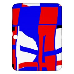 Blue, Red, White Design  Samsung Galaxy Tab 3 (10 1 ) P5200 Hardshell Case  by Valentinaart