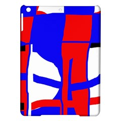 Blue, Red, White Design  Ipad Air Hardshell Cases by Valentinaart