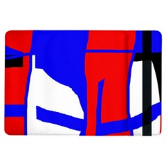 Blue, red, white design  iPad Air Flip by Valentinaart
