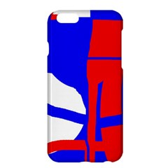 Blue, Red, White Design  Apple Iphone 6 Plus/6s Plus Hardshell Case by Valentinaart