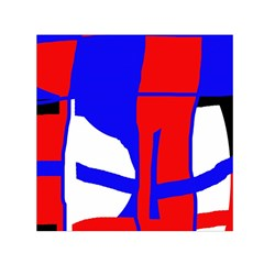 Blue, Red, White Design  Small Satin Scarf (square) by Valentinaart