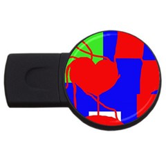 Abstract Hart Usb Flash Drive Round (4 Gb)  by Valentinaart