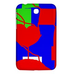 Abstract Hart Samsung Galaxy Tab 3 (7 ) P3200 Hardshell Case  by Valentinaart