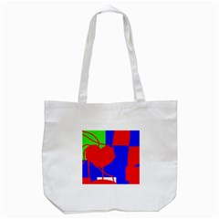 Abstract Hart Tote Bag (white) by Valentinaart