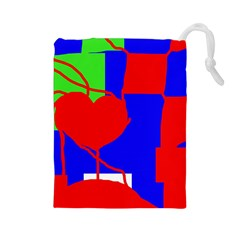 Abstract Hart Drawstring Pouches (large)