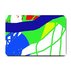 Colorful Abstraction Small Doormat  by Valentinaart