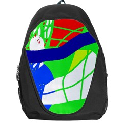 Colorful Abstraction Backpack Bag by Valentinaart