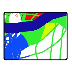 Colorful Abstraction Double Sided Fleece Blanket (small)  by Valentinaart