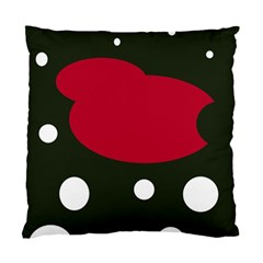 Red, Black And White Abstraction Standard Cushion Case (one Side) by Valentinaart