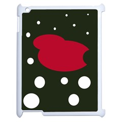 Red, Black And White Abstraction Apple Ipad 2 Case (white) by Valentinaart
