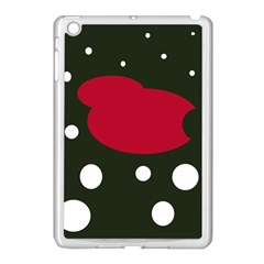 Red, Black And White Abstraction Apple Ipad Mini Case (white) by Valentinaart