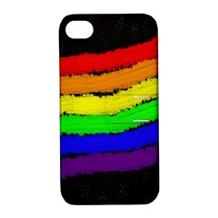 Rainbow Apple Iphone 4/4s Hardshell Case With Stand by Valentinaart