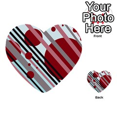 Colorful Lines And Circles Multi Purpose Cards (heart)