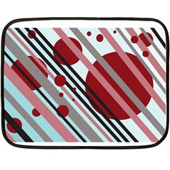 Colorful Lines And Circles Double Sided Fleece Blanket (mini)  by Valentinaart