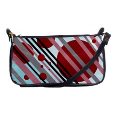 Colorful Lines And Circles Shoulder Clutch Bags by Valentinaart