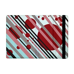 Colorful Lines And Circles Apple Ipad Mini Flip Case by Valentinaart