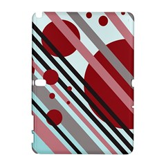 Colorful lines and circles Samsung Galaxy Note 10.1 (P600) Hardshell Case by Valentinaart