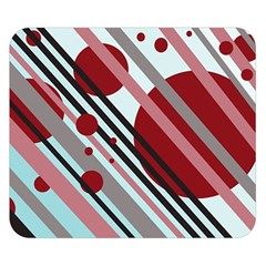Colorful Lines And Circles Double Sided Flano Blanket (small)  by Valentinaart
