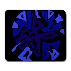 Deep Blue Abstraction Large Mousepads by Valentinaart