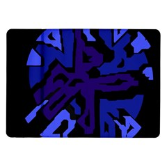 Deep Blue Abstraction Samsung Galaxy Tab 10 1  P7500 Flip Case by Valentinaart