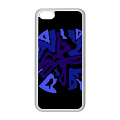 Deep Blue Abstraction Apple Iphone 5c Seamless Case (white)