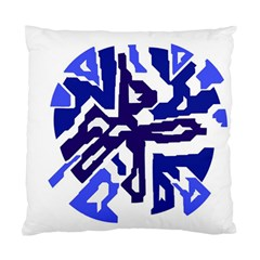 Deep Blue Abstraction Standard Cushion Case (two Sides) by Valentinaart