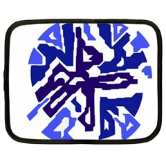 Deep Blue Abstraction Netbook Case (xl)  by Valentinaart