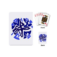 Deep Blue Abstraction Playing Cards (mini)  by Valentinaart