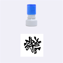 Deep Blue Abstraction Rubber Round Stamps (small) by Valentinaart