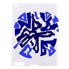 Deep Blue Abstraction Apple Ipad 3/4 Hardshell Case by Valentinaart