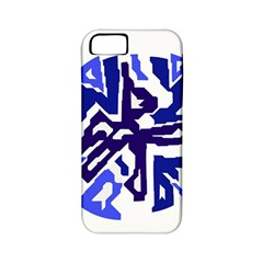 Deep Blue Abstraction Apple Iphone 5 Classic Hardshell Case (pc+silicone) by Valentinaart