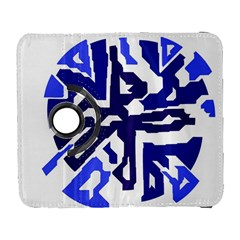 Deep Blue Abstraction Samsung Galaxy S  Iii Flip 360 Case by Valentinaart