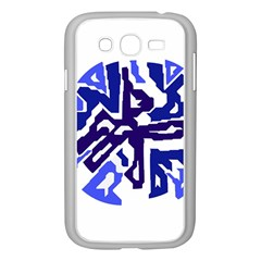 Deep Blue Abstraction Samsung Galaxy Grand Duos I9082 Case (white) by Valentinaart