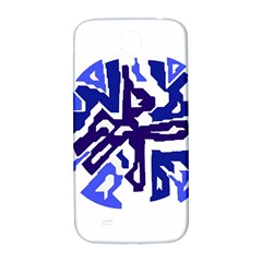 Deep Blue Abstraction Samsung Galaxy S4 I9500/i9505  Hardshell Back Case by Valentinaart
