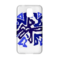 Deep Blue Abstraction Samsung Galaxy S5 Hardshell Case  by Valentinaart