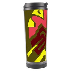 Abstraction Travel Tumbler by Valentinaart