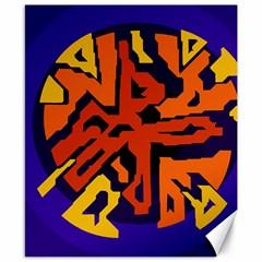 Orange Ball Canvas 8  X 10  by Valentinaart