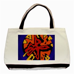 Orange Ball Basic Tote Bag (two Sides) by Valentinaart