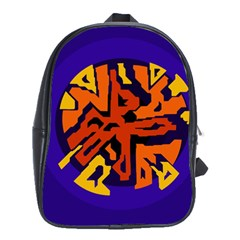 Orange Ball School Bags(large)  by Valentinaart