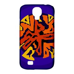 Orange Ball Samsung Galaxy S4 Classic Hardshell Case (pc+silicone) by Valentinaart