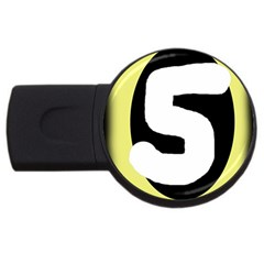 Number Five Usb Flash Drive Round (2 Gb)  by Valentinaart