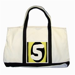 Number Five Two Tone Tote Bag by Valentinaart