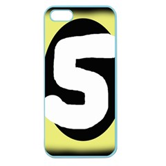 Number Five Apple Seamless Iphone 5 Case (color) by Valentinaart