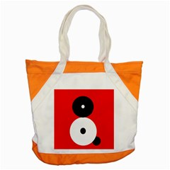 Number Eight Accent Tote Bag by Valentinaart