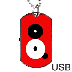 Number Eight Dog Tag Usb Flash (one Side) by Valentinaart