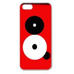 Number Eight Apple Seamless Iphone 5 Case (clear) by Valentinaart
