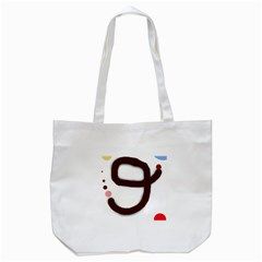 Number Nine Tote Bag (white) by Valentinaart