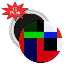 Colorful Abstraction 2 25  Magnets (10 Pack)