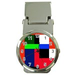 Colorful abstraction Money Clip Watches Front