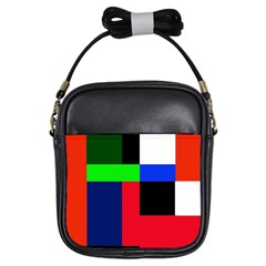Colorful Abstraction Girls Sling Bags by Valentinaart